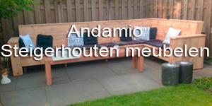 Andamio steigerhouten bank